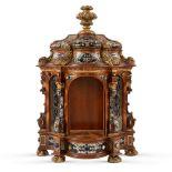 Wood and semi precious stones cabinet Austria, 18th-19th century 54x37x16 cm.