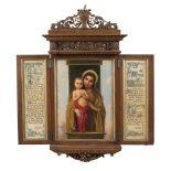 Nazzareno painter 19th-20th century 88x77x10 cm.