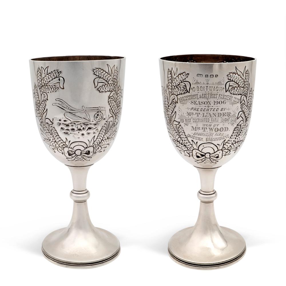 Silver cup Birmingham, 1906 weight 405 gr.