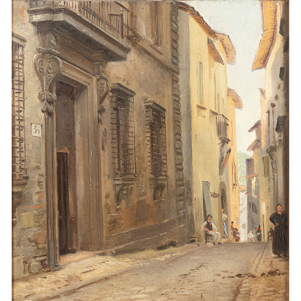 Roman painter 19th Century 31x28,5 cm.