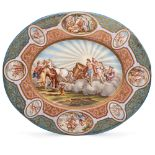 Polychrome enamel plate Vienna, 19th century 30x25 cm.