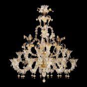 Rezzonico 28-lights chandelier Murano, 20th century 175x140 cm.