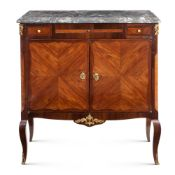 A French mahogany and bois de rose credenza 19th century