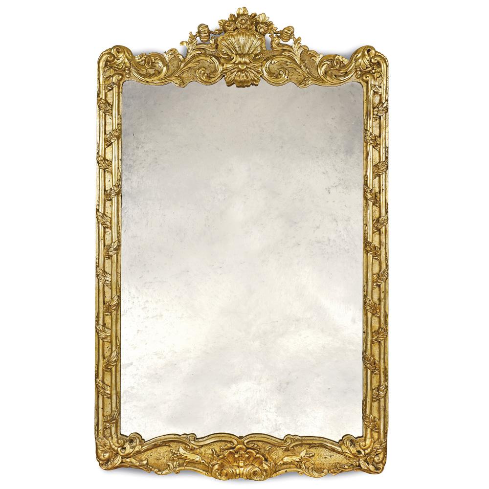 Giltwood mirror 19th-20th century 180x110 cm.