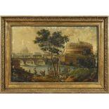 Roman painter XIX Century 56x84 cm