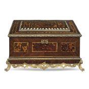 Rosewood box Germany, 19th century 21x42x27 cm.