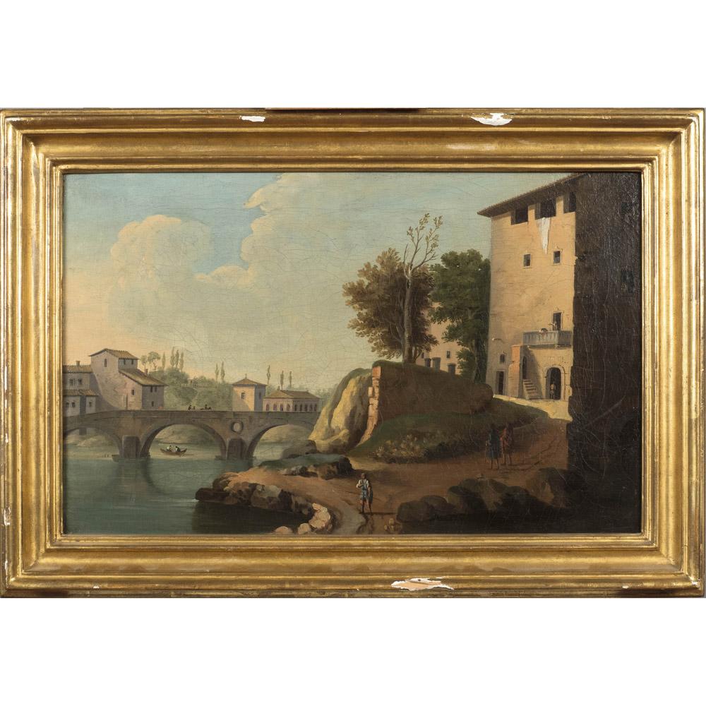 Roman painter 17th-18th century 32,5x50,5 cm.