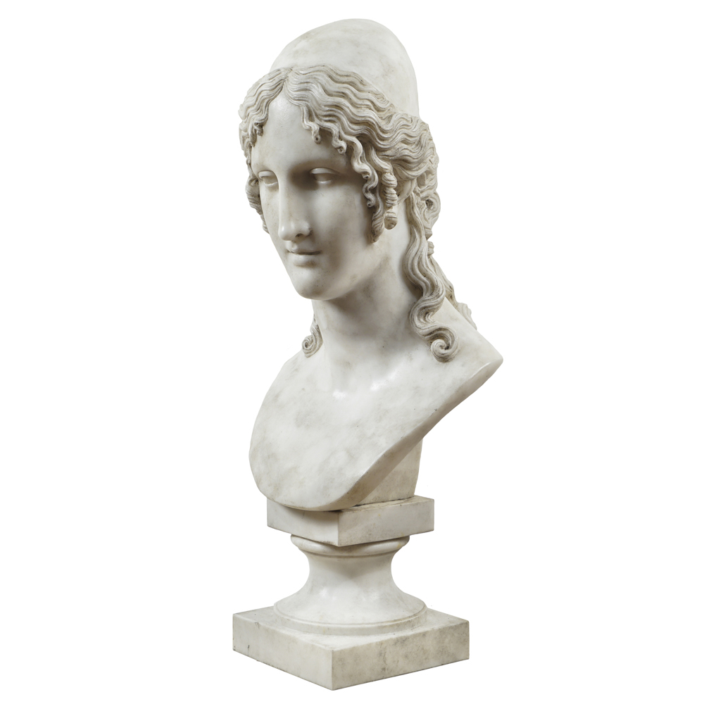 White marble sculpture 20th century 81x37x30 cm. - Image 2 of 3