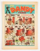 Dandy No 89 (1939). Bright cover, cream pages, small tear and crease to top RH corner [fn]