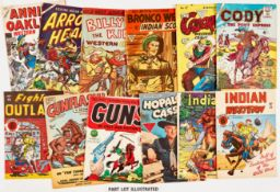 L. Miller Westerns + (1950s). Annie Oakley 2, Arrow-Head 3, Billy The Kid 12, Black Fury 52, 55,