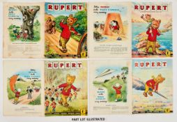 Rupert Adventure Series (D. Express early 1960s) 47-50. Bright covers, white pages. No 47: 1 x ½""