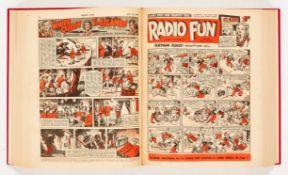 Radio Fun (1947) 430-481. Bound volume. Starring ITMAs Tommy Handley, Tommy Trinder, Petula Clark,