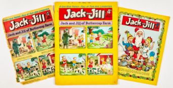 Jack and Jill No 4 (1954) original artwork by Pansy Potter creator, Hugh McNeill. With worn cover