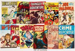 Adventure/Crime 6d reprints (1950-60s). Buccaneers n.n. (TV Boardman), Captain Tornado 68-70, 72,