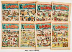 Dandy (1944) 257 [gd+], 260, 262, 265-267, 269, 270, 272, 275, 278, 280, 281 [vg/fn] (13)