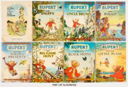 Rupert Adventure Series (D. Express 1948-51) 1-10. Bright covers, cream/white pages. All issues have