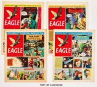 Eagle Vol. 5 (1954) 1-53. Complete year. Starring Dan Dare in Operation Saturn and Prisoners of