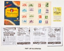 Dan Dare Interplanetary Stamp Folder (1953) Lifebuoy Soap giveaway with all 32 stamps attached. With