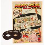 Mickey Mouse Weekly 166 (1939) Easter issue [vg-] wfg Lone Ranger Mask. The Mask is rare