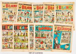 Beano (1954) 598, 600-602, 604, 612, 614, 615, 618, 620, 622-624, 627, 628, 630-633, 635-637, 639,