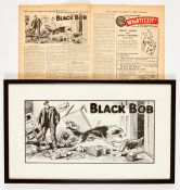Black Bob original artwork drawn by Jack Prout (1952) for The Dandy No 551 June 14 1952. With