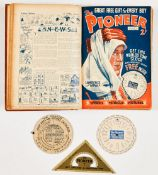The Pioneer (1934) 1-25. In bound volume wfgs for Nos 2, 3 and 4 Height, Width & Distance