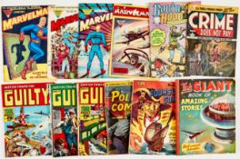 Marvelman/Crime Collection (1950s-60s). Marvelman 45, 109 [gd-], 126, 277 [gd], Robin Hood 21, Crime