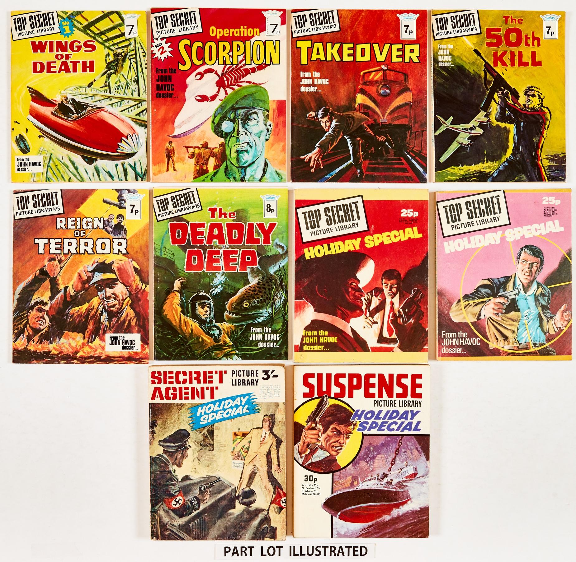Top Secret Picture Library (1974-76) 1-40. Complete run [vfn/vfn+] with Top Secret Picture Library