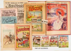 The Million 107 (1894), Boy's Herald 212 (1907). Introducing Sexton Blake and Tinker, 221, 222, 232,