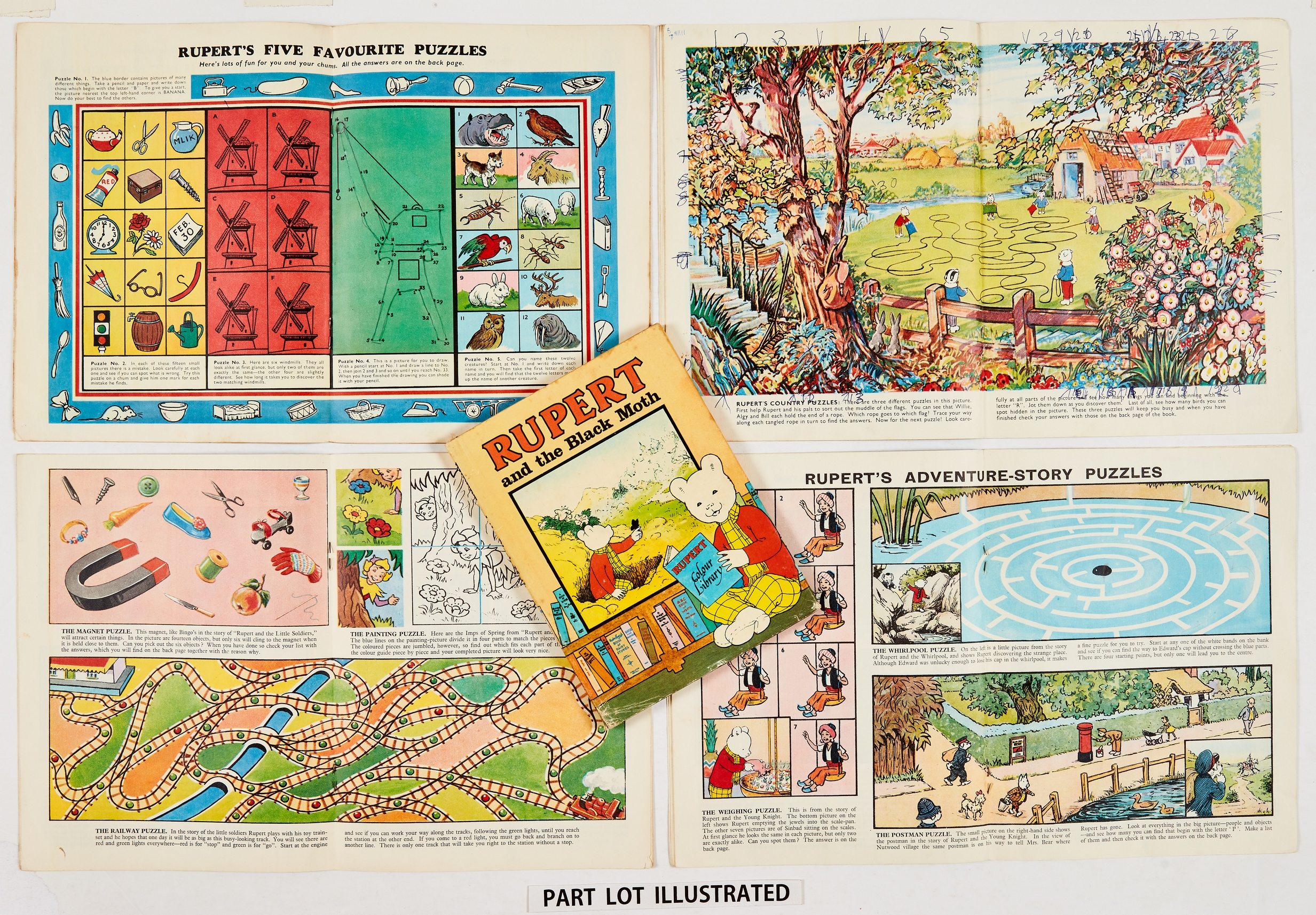 """Rupert Adventure Series (D. Express early 1960s) 47-50. Bright covers, white pages. No 47: 1 x ½"""" - Image 2 of 2"""