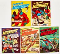 Captain Midnight (L. Miller 1950s) 1 [vg], 2, 5, 10, 128 [vg/fn+] (5)