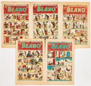Beano (1948-49) 348, 371, 376, 379, 386 [gd/vg] (5). No Reserve