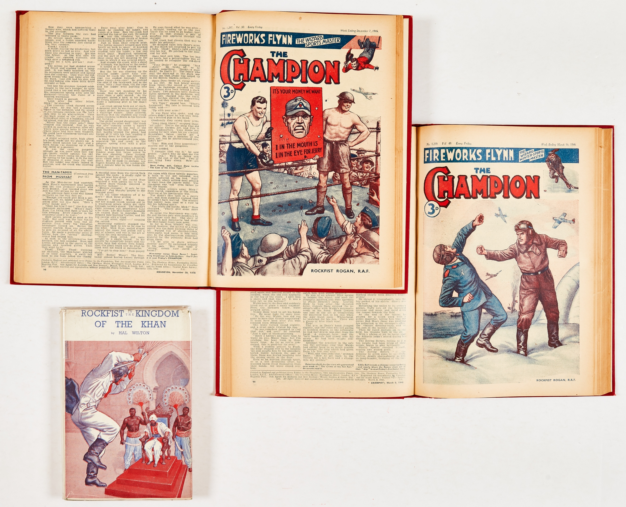 Champion (1946) 1249-1300. Complete year in two bound volumes. Publisher's file copies. Starring