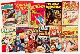 Captain Miracle 1 (Anglo Features 1960) [gd], Captain Video 2, Electroman n.n., Flash Gordon 1, Pete