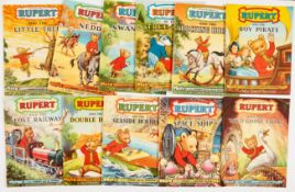 Rupert Adventure Series (D. Express 1950s) 11-21. Bright covers, white pages. Nos: 12, 13, 14 have