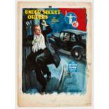 Sexton Blake/Under Secret Orders original cover artwork by Eric Parker for Sexton Blake Library No