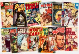 Charlton Westerns + (1950s-60s). Billy The Kid 39 (U.S.), Blazing West n.n., [gd], Indian Fighter