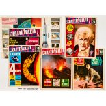 Countdown (1971) No 1 wfg Wallchart with all 24 stamps attached [vg+], 2, 3, 5-12. No 8 has small