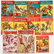 Cowboy Comics (1951) 34-36, 41, 45-48, 50 with Western War Comic (G.G. Swan) 5, 6 [gd/vg+] (11)