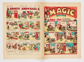 Magic Comic No 39 (1940) with Koko the Pup by E.H. Banger, Peter the Piper by Dudley Watkins. Bright