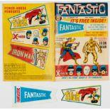 Fantastic 1 (1967) wfg Fantastic Pennant (Thor) and Wallet. Reprinting Tales of Suspense 39 (1st