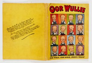 Our Wullie Book (1949). Sixteen of the wee lad's faces from Pride O'the Nation to Termination. Clean
