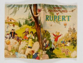 Rupert Book (1947). One inch top cover tear, with creased corners, no dedication, price clipped,