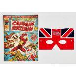 Captain Britain 1 (1976) wfg Captain Britain mask. Comic [fn], mask as new