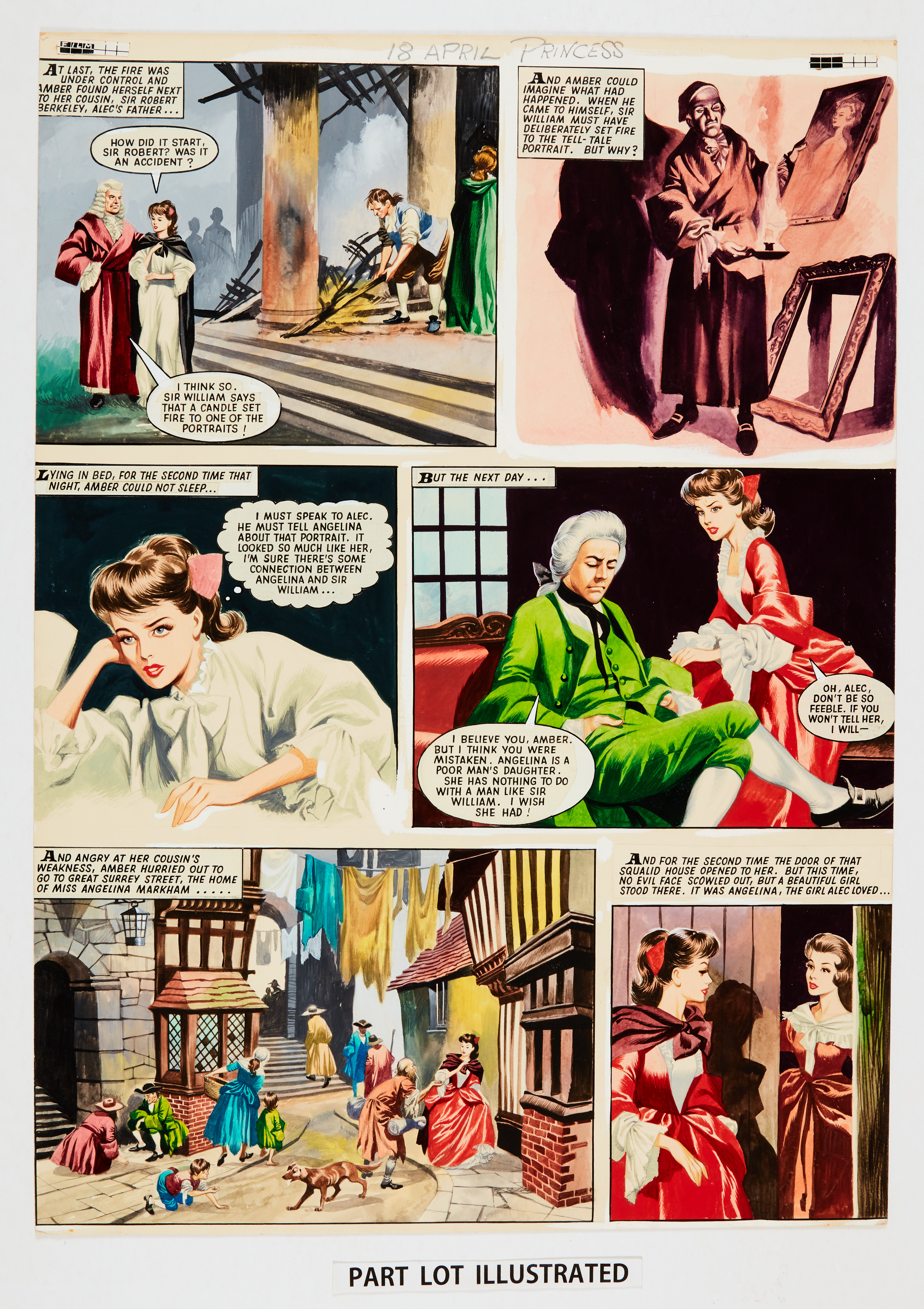The Daughter of Lorna Doone: two consecutive original colour artworks by Ron Embleton (early - Image 2 of 2