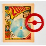2000 AD Prog 1 (1977) wfg Space Spinner. Tan cover, cream pages, archival tape repair to 1 ins