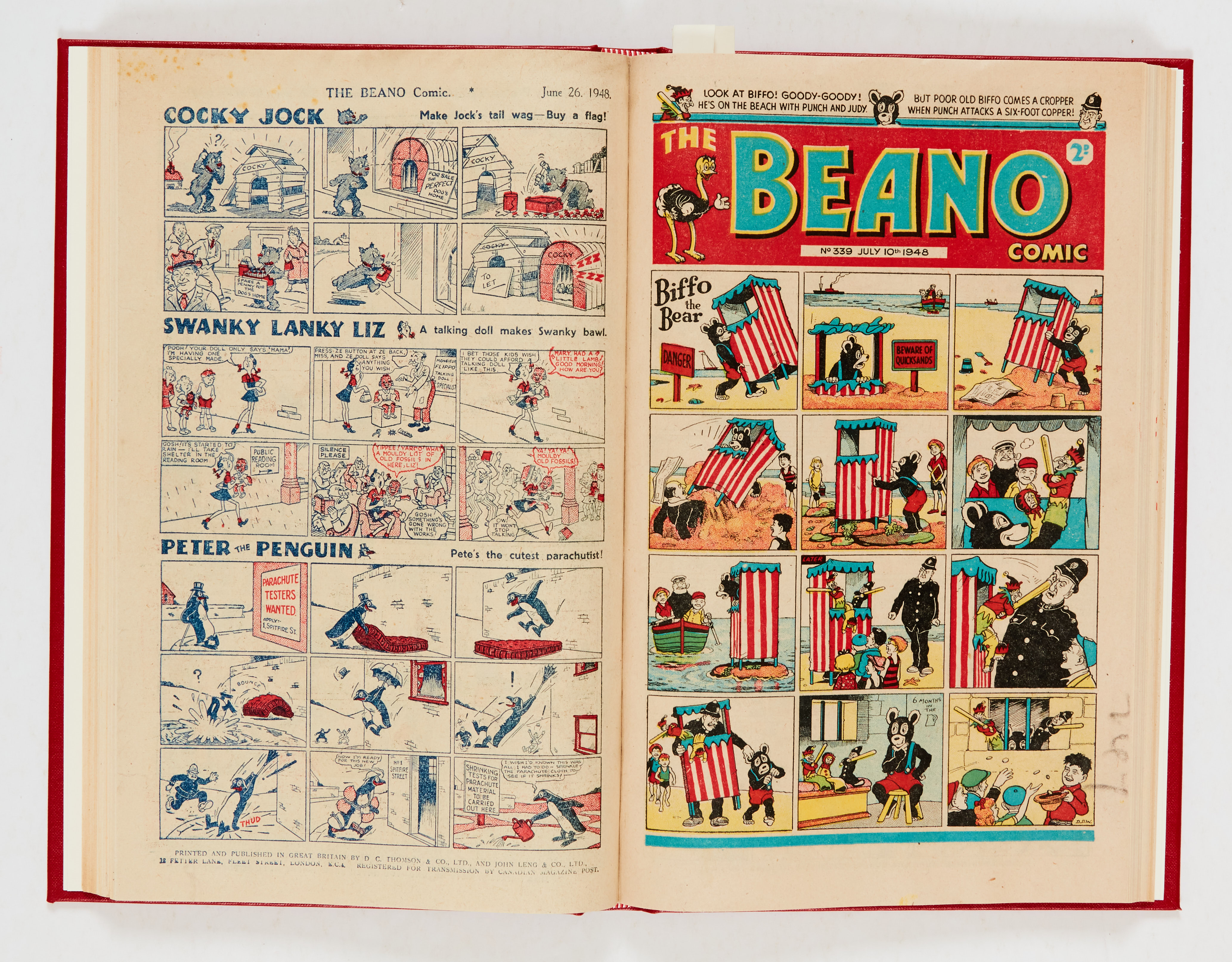Beano (1948) 326-351. Complete year in bound volume (issued fortnightly). No 326 last Big Eggo - Image 2 of 4