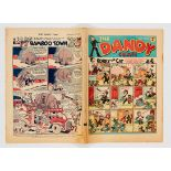 Dandy 109 (Dec 1939) Propaganda war issue. The Dandy's Bellboy and Our Gang wish you a Happy New