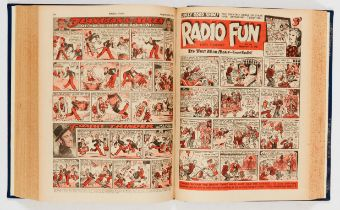 Radio Fun (1945) 326-377. Complete year in bound volume. Starring Bob Hope & Jerry Colonna, Flanagan