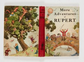 More Adventures of Rupert (1937). Second Rupert book. Cream boards, erased dedication, clean cream